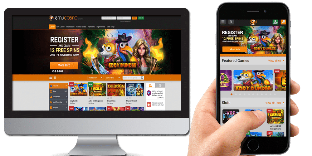 EmuCasino desktop and mobile