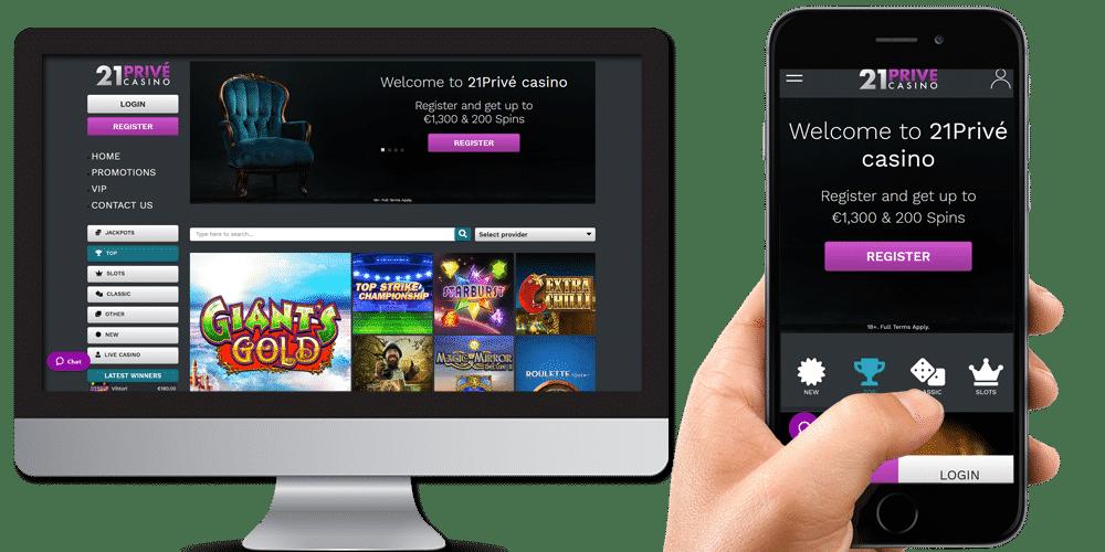 21Prive desktop and mobile