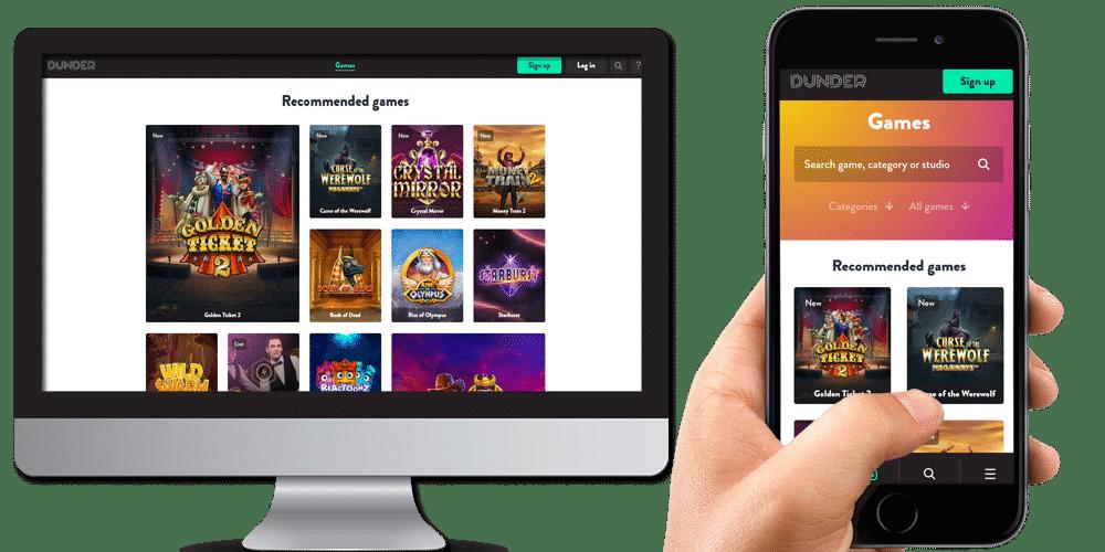Dunder Casino desktop-mobile