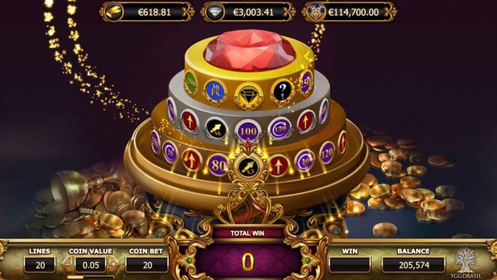 empire fortune jackpot wheel