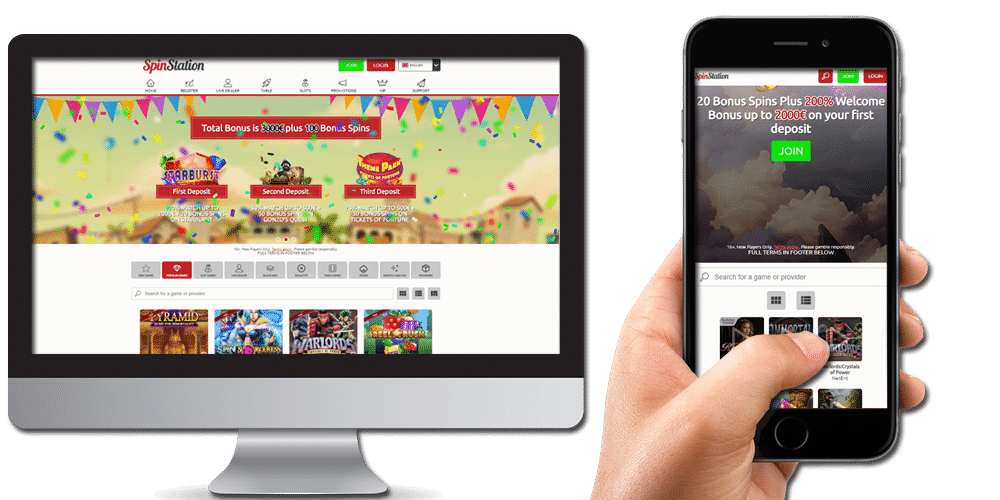 Spin Station Casino available on desktop & mobile