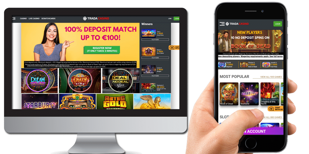 Trada Casino desktop & mobile