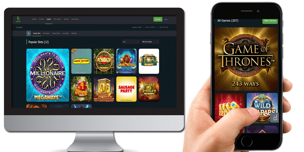 fansbet desktop and mobile devices