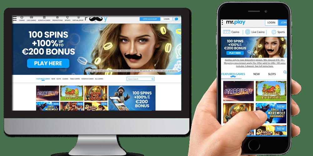 MrPlay Casino desktop & mobile