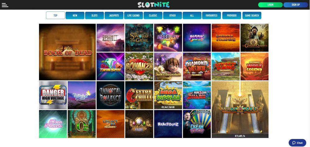 slotnite-casino-lobby