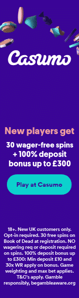 30 No wagering free spins for UK