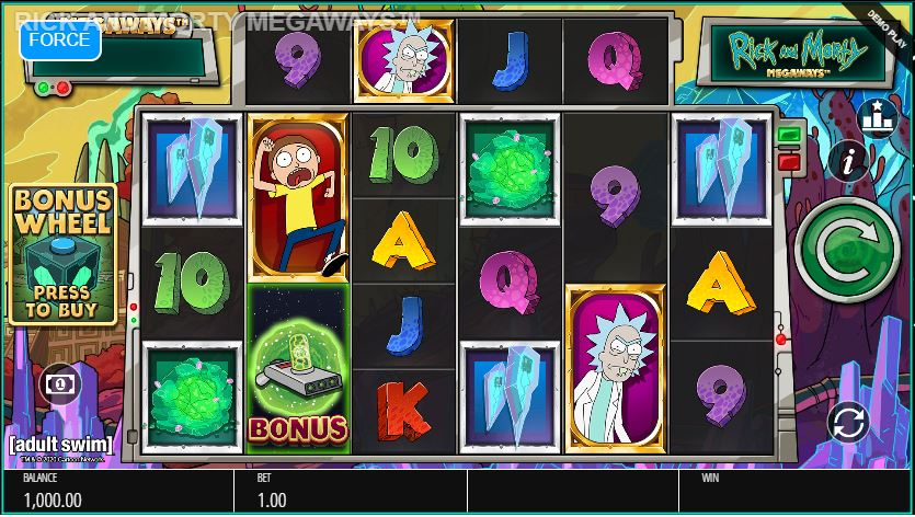 rick and Morty slot preview