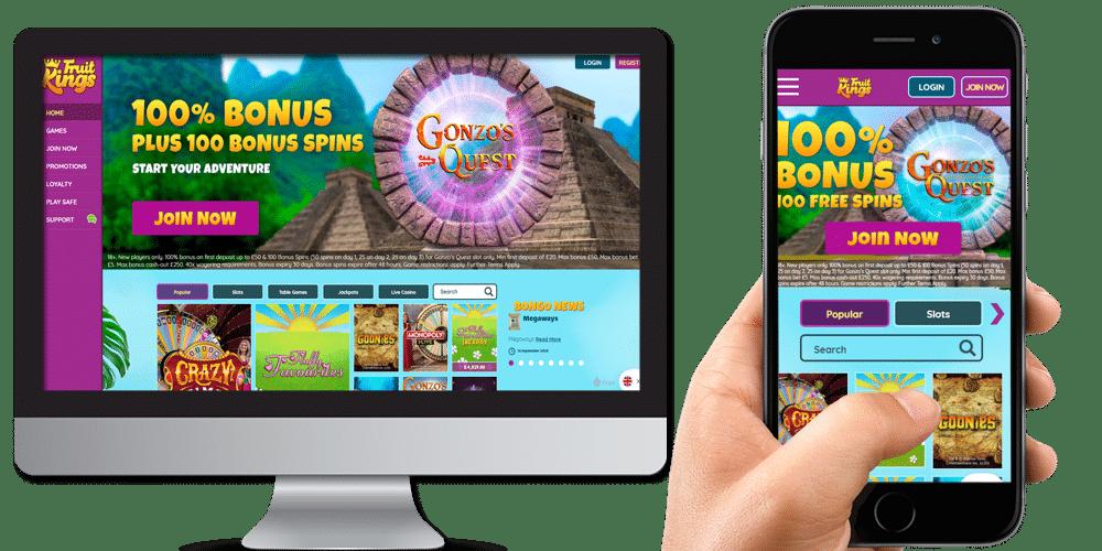 Fruit Kings desktop and mobile