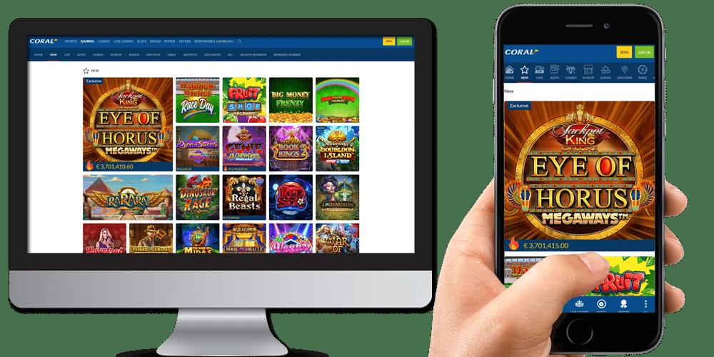 coral casino desktop and mobile