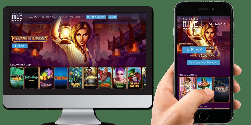 Casino Nile desktop & mobile