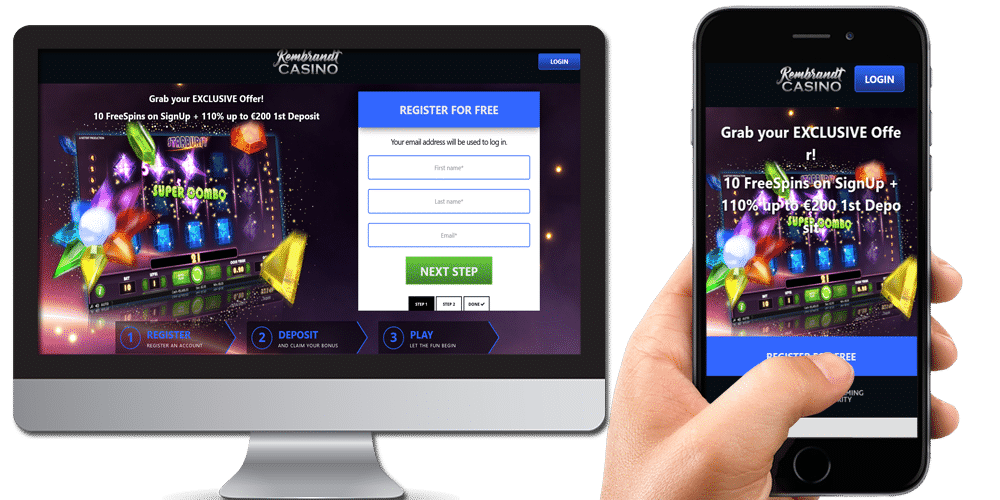 Rembrandt Casino desktop and mobile