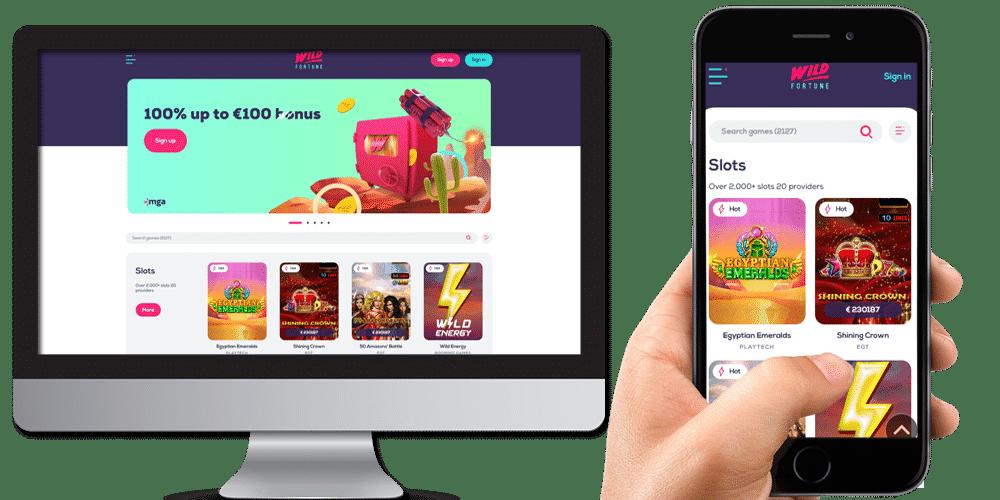 wild fortune desktop and mobile