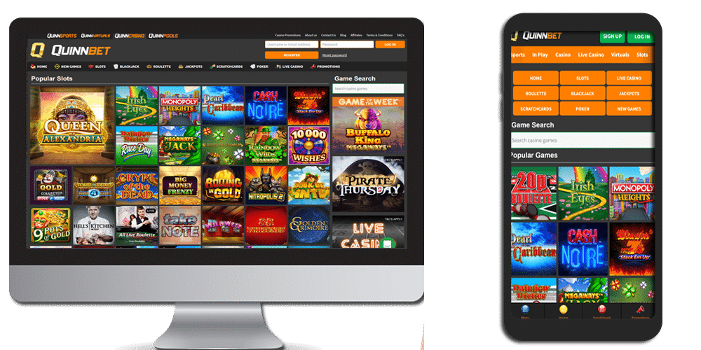 quinnbet desktop and mobile devices